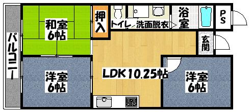 【マンション弥生】間取図面