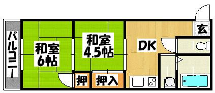 【菊恵マンション】間取図面