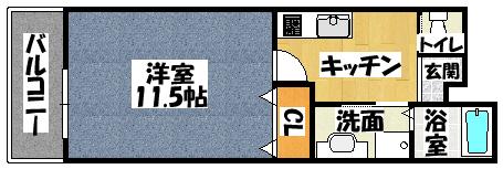 【フェリーチェ古川橋】間取図面