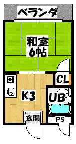 【コーポタカハシB】間取図面
