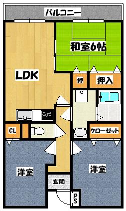 【リビエール桜】間取図面