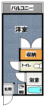 【コーポタカハシA】間取図面