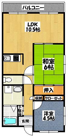【スペースビラⅡ】間取図面