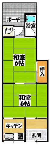 【内生蔵藤田町文化・風呂付】間取図面