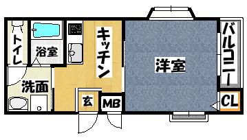 【メゾンバニーNO3】間取図面