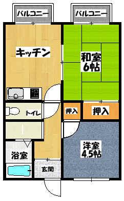 【STハイツ】間取図面