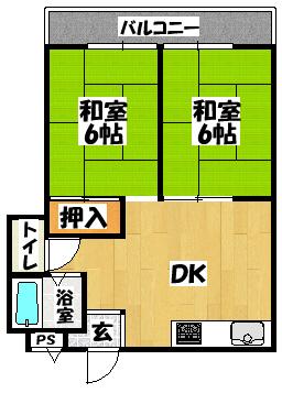 【第二モリタマンション】間取図面