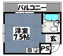 【サンホワイティー古川橋】間取図面