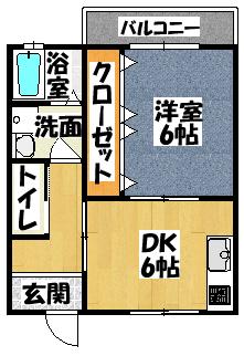 【末広新築ハイツ】間取図面