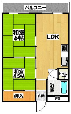 【Kハイツ梶町】間取図面