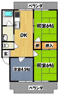 【クリーンレイクマンション】間取図面