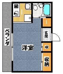 【ロータリーM中町】間取図面