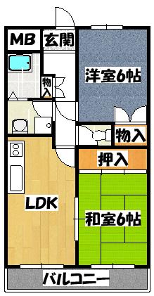 【富士野里マンション】間取図面