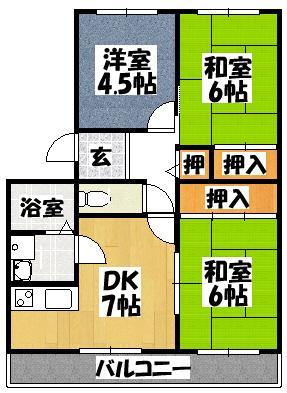 【K・クレール】間取図面