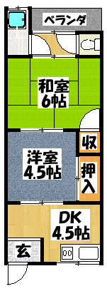 【マンションハピネス】間取図面