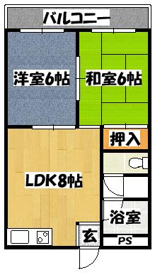 【末広コーポ】間取図面