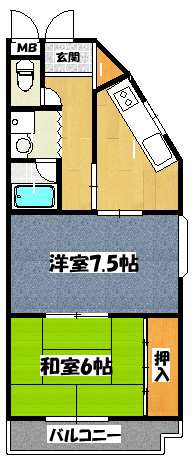 【マスダパレス】間取図面