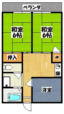 【ロイヤルハイツ木村】間取図面