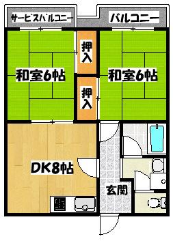 【シティライフ林Ⅰ】間取図面