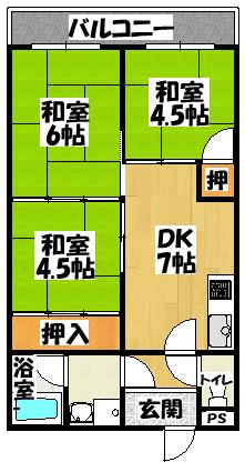 【樋本マンション】間取図面