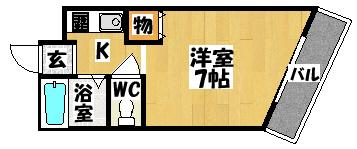 【エスポワール大日】間取図面