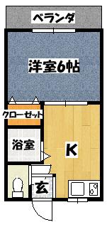 【末広大丸マンション】間取図面