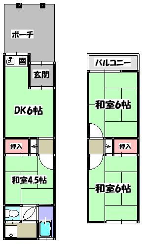 【藤田貸家(金田町5丁目)】間取図面
