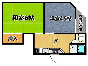 【エクセル本町Ⅱ番館】間取図面