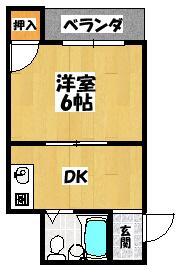 【プチシャトー大和田】間取図面