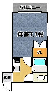 【グランデデュールK】間取図面