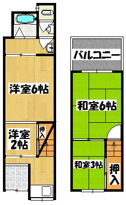 【合田貸家】間取図面