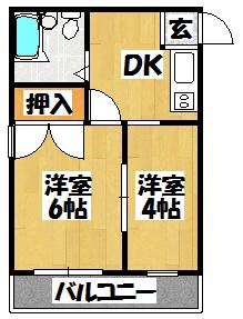 【門真モントレー(2DK)】間取図面