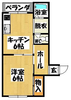 【川島第13ビル(幸福町・ラフォーレ幸)】間取図面