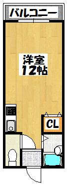 【門真グランドハイツ(1R)】間取図面