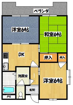 【川島第10ビル】間取図面