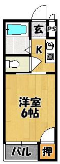 【プレアール古川橋Ⅱ(旧:グランデ御堂)】間取図面