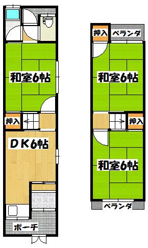 【藤田貸家】間取図面