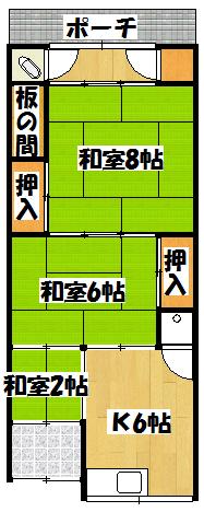 【北田平屋】間取図面