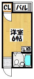 【ウイング藤田 内写なし 藤田町6-10-7】間取図面
