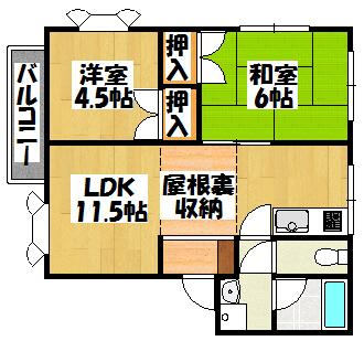 【プレステージ泉3号】間取図面