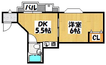 【リマークオーワダ301】間取図面