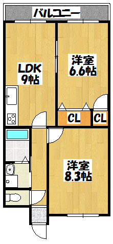【ユートピア中野Ⅱ】間取図面