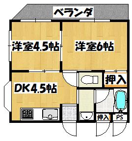 【レインフォレスト(振分タイプ)】間取図面