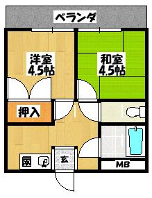 【コーポラスフォーシーズン403】間取図面
