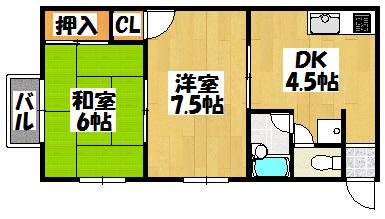【藤田コーポ】間取図面