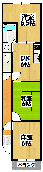 【Kハイツ大久保】間取図面