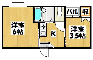 【エクセル本町Ⅰ番館401号】間取図面