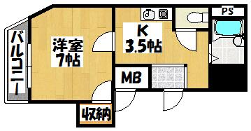 【ニューハイツ桜Ⅲ201】間取図面
