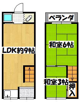【藤田町4-23-2(公栄貸家)】間取図面