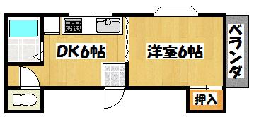 【永田マンション】間取図面